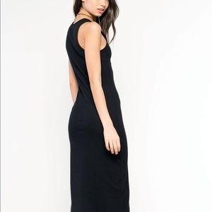 James Perse Black Racerback Maxi Dress Cotton 3